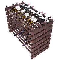 Franmara DD168-S Modularack Pro Double-Deep 168 Bottle Stained Wooden Modular Wine Rack