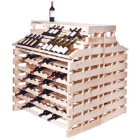 Franmara WFG360DX-N Modularack Pro Waterfall Deluxe Gondola 360 Bottle Natural Wooden Modular Wine Rack