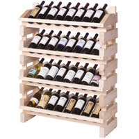 Franmara FD32-N Modularack Pro Full Display 32 Bottle Natural Wooden Modular Wine Rack