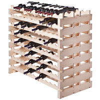 Franmara DD192-N Modularack Pro Double-Deep 192 Bottle Natural Wooden Modular Wine Rack