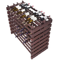 Franmara DD192-S Modularack Pro Double-Deep 192 Bottle Stained Wooden Modular Wine Rack
