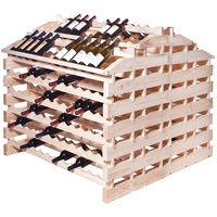 Franmara WFG312-N Modularack Pro Waterfall Gondola 312 Bottle Natural Wooden Modular Wine Rack
