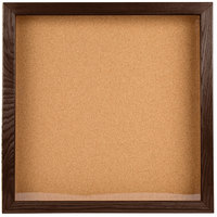 Aarco WBC2424S 24 inch x 24 inch Enclosed Hinged Souvenir and Memorabilia Display Case with Walnut Finish