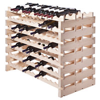 Franmara DD168-N Modularack Pro Double-Deep 168 Bottle Natural Wooden Modular Wine Rack