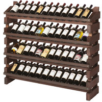 Franmara FD48-S Modularack Pro Full Display 48 Bottle Stained Wooden Modular Wine Rack