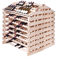 Franmara WFG408-N Modularack Pro Waterfall Gondola 408 Bottle Natural Wooden Modular Wine Rack