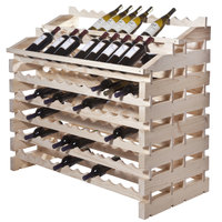 Franmara WF156-N Modularack Pro Waterfall 156 Bottle Natural Wooden Modular Wine Rack