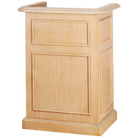 Bon Chef 50290 30 inch x 21 inch x 44 inch Pickled Oak Euro Style Podium