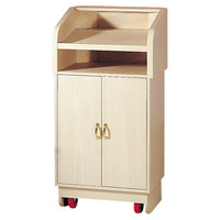 Bon Chef 50250 25 inch x 20 inch x 48 inch Pickled Oak Traditional Style Podium