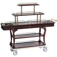 Bon Chef 50060 62 inch x 19 1/2 inch x 44 1/2 inch Dessert Cart