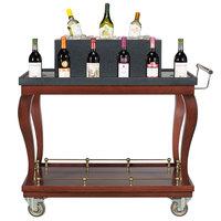 Bon Chef 50049 44 inch x 23 1/2 inch x 40 1/2 inch Mahogany Wine Cart