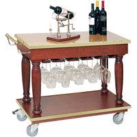 Bon Chef 50174 38 inch x 18 inch x 32 inch Wine / Beverage Cart