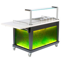 Bon Chef 50044 54 1/2 inch x 30 inch x 49 inch Green / Silver Guacamole Tequila Cart
