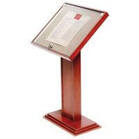 Bon Chef 50330 27 1/2 inch x 12 inch x 50 inch Oak Menu Display Stand