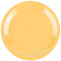 GET NP-6-TY Diamond Mardi Gras 6 1/2 inch Tropical Yellow Narrow Rim Round Melamine Plate - 48/Case