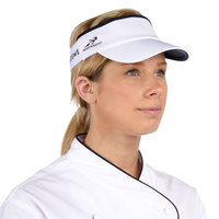 White Headsweats Customizable CoolMax Chef Visor