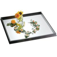 Bon Chef 51011 30 inch x 30 inch Wood Frame Glass Mirror Tray