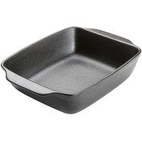 American Metalcraft PBB12 92 oz. Black Matte Porcelain Rectangular Casserole Dish with Handles