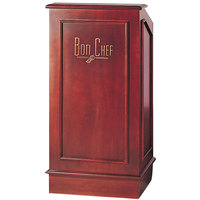 Bon Chef 50220 25 inch x 20 inch x 48 inch Walnut Mahogany Executive Style Podium