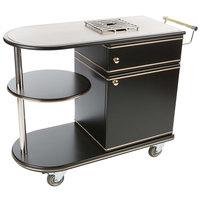 Bon Chef 50020 Deco 45 1/4 inch x 17 3/4 inch x 33 1/2 inch Black Flambe Trolley
