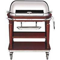 Bon Chef 50000 42 inch x 23 1/2 inch x 42 1/2 inch Mahogany Roast Beef Trolley