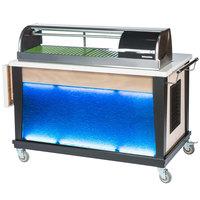 Bon Chef 50045 54 1/2 inch x 30 inch x 45 inch Blue / Silver Sushi Cart