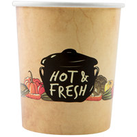 Choice 32 oz. Medley Double Poly-Coated Paper Soup / Hot Food Cup - 50/Pack