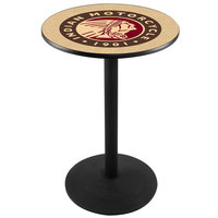 Holland Bar Stool L214B36Indn-HD 28 inch Round Indian Motorcycle Pub Table with Black Round Base