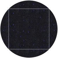 Art Marble Furniture Q409 51 inch Round / 36 inch x 36 inch Blue Galaxy Drop Leaf Quartz Tabletop