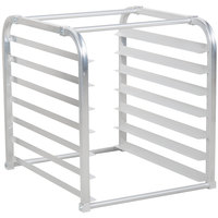 Avantco 178BUNPNHALF 7 Pan Aluminum End Load Sheet / Bun Pan Rack for Reach-Ins - Unassembled