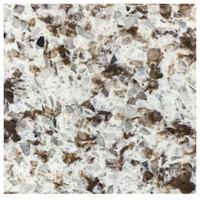 Art Marble Furniture Q411 51 inch Round / 36 inch x 36 inch Chocolate Blizzard Drop Leaf Quartz Tabletop
