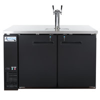 Avantco UDD-2-HC Black Kegerator / Beer Dispenser with Double Tap Tower - (2) 1/2 Keg Capacity