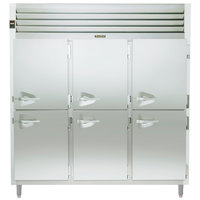 Traulsen Stainless Steel RHF332WP-HHS Solid Half Door Three Section Reach In Pass-Through Heated Holding Cabinet - Specification Line