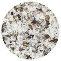 Art Marble Furniture Q411 30 inch Round Chocolate Blizzard Quartz Tabletop