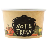 Choice 8 oz. Medley Double Poly-Coated Paper Soup / Hot Food Cup - 50/Pack