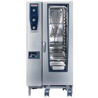 Rational CombiMaster Plus Model 201 B219206.27E202 Natural Gas Single Deck Combi Oven with ClimaPlus Technology - 120V