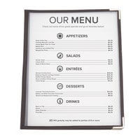 8 1/2 inch x 11 inch American Metalcraft Securit Two Pocket Menu Holder   - 3/Pack
