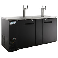 Avantco UDD-3-HC Black Kegerator / Beer Dispenser with (2) 2 Tap Towers - (3) 1/2 Keg Capacity