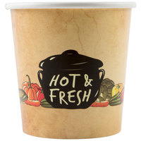 Choice 16 oz. Medley Double Poly-Coated Paper Soup / Hot Food Cup - 50/Pack