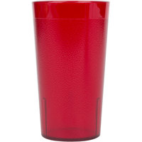 Cambro 1200P156 Colorware 12.6 oz. Ruby Red Plastic Tumbler - 72/Case