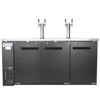 Avantco UDD-4-HC Black Kegerator / Beer Dispenser with 2 Double Tap Towers - (4) 1/2 Keg Capacity