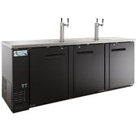Avantco UDD-4-HC Black Kegerator / Beer Dispenser with (2) 2 Tap Towers - (4) 1/2 Keg Capacity