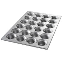 Chicago Metallic 43026 24 Cup Glazed Customizable Oversized Large Crown Muffin Pan - 17 7/8 inch x 25 7/8 inch