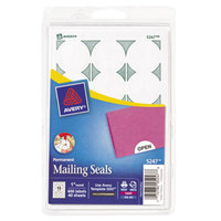 Avery 5247 1 inch White Round Write-On / Printable Mailing Seals - 600/Pack