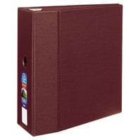 Avery 79366 Maroon Heavy-Duty Non-View Binder with 5 inch Locking One Touch EZD Rings