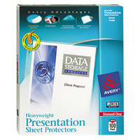 Avery 74100 8 1/2 inch x 11 inch Diamond Clear Heavy Weight Acid-Free Sheet Protectors - 100/Box