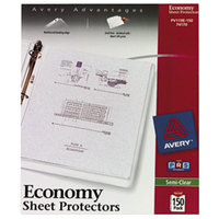 Avery 74170 8 1/2 inch x 11 inch Semi-Clear Economy Weight Top-Load Sheet Protector, Letter - 150/Box