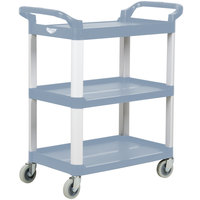Vollrath 97006 Gray Multi-Purpose Utility Cart with Three Shelves