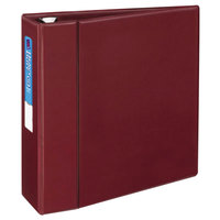 Avery 79364 Maroon Heavy-Duty Non-View Binder with 4 inch Locking One Touch EZD Rings