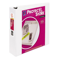 Avery 23002 White Protect and Store Durable View Binder with 2 inch Slant Rings